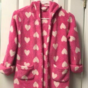 Girl fleece robe